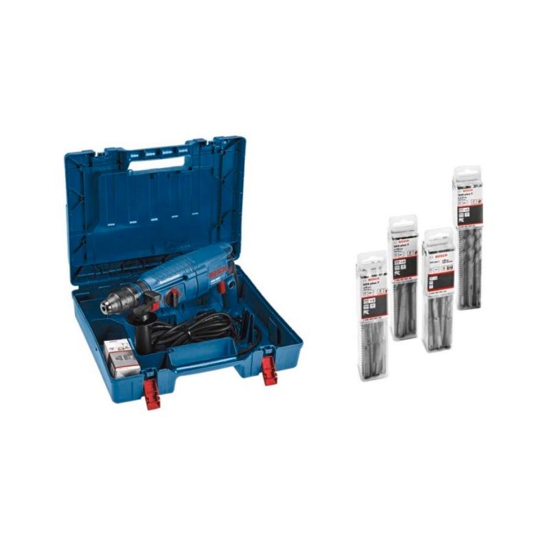 Bosch Bohrhammer GBH 2600 mit 40 Stück SDS-Plus-7 Bohrer 6 | 8 | 10 | 12mm - GBH 2600 Bohrhammer + 40x SDS-Plus Bohrer |OUTLET