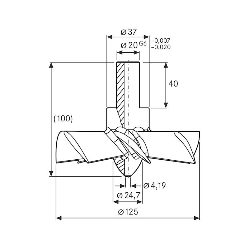 Souffleur de copeaux ATORN - Souffleur de copeaux (hélice de nettoyage)
