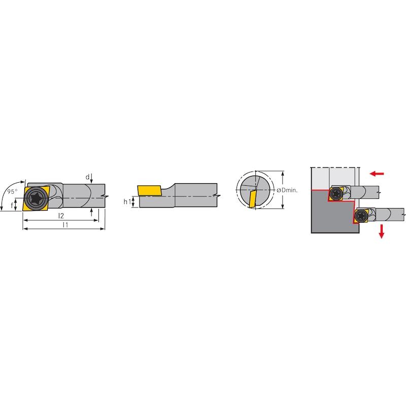 Barra de mandrinar ATORN E06 SCLDL 04 AX - Barra de mandrinar SCLD de metal duro completo, positiva izquierda