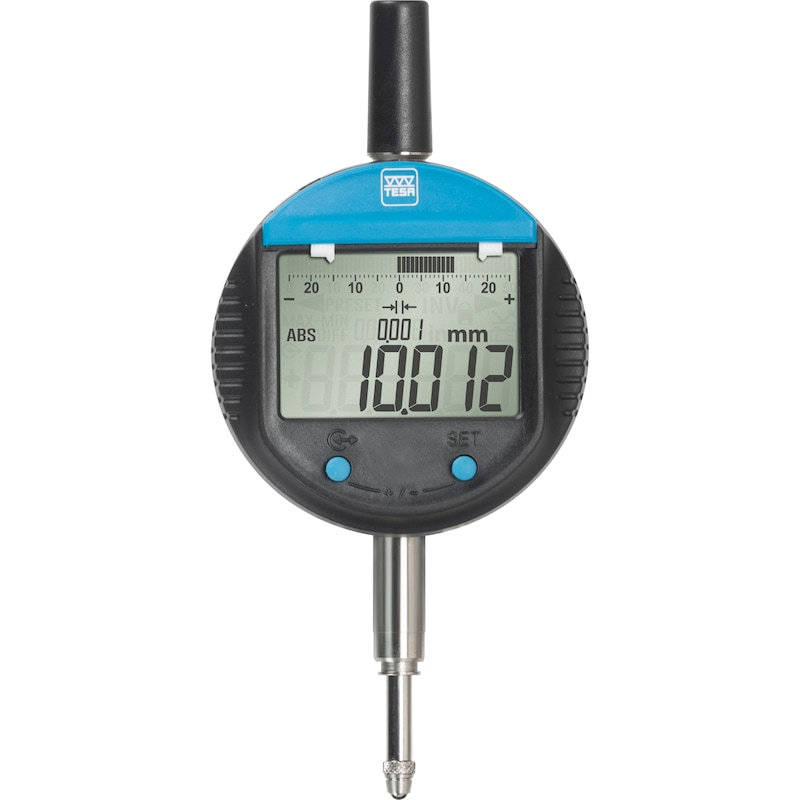 Reloj comp. TESA DIGICO 305 MI 12,5 mm incr. 0,001 mm, salida datos RS 232 opto - Reloj comparador electrónico