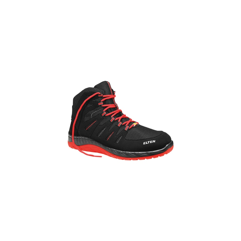 Safety boots WELLMAXX Maddox Black-Red Mid