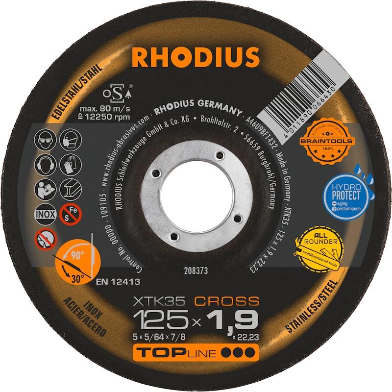 Rhodius Trennscheibe XTK35 gekröpft 115 x 1,9 x 22,23 mm