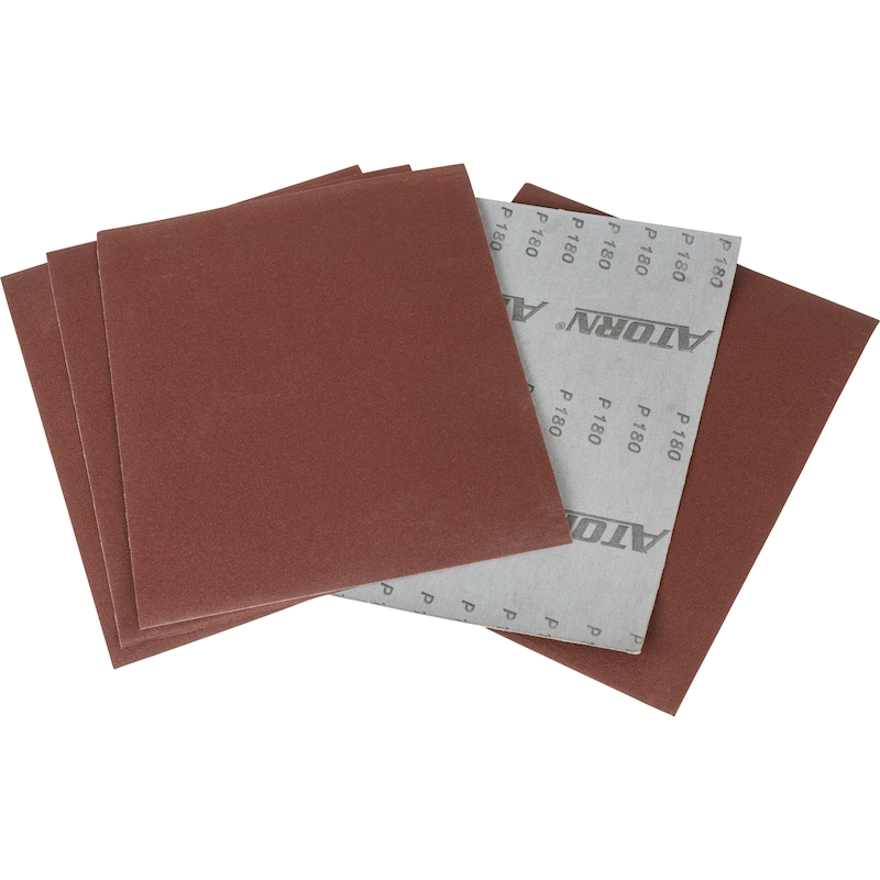 Feuilles de toile abrasive ATORN, corindon raffiné (AO) K40 230 x 280 mm - Feuilles de toile abrasive ATORN