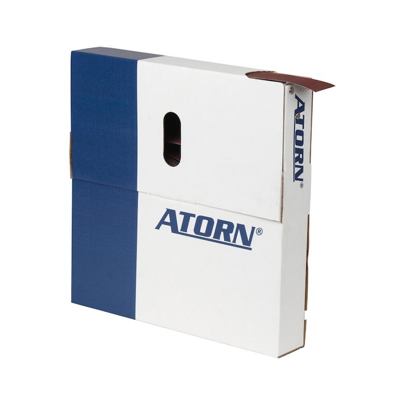 ATORN Schleifgeweberolle Korund (AO) in der Abreißbox K120 25mm x 50m - ATORN Schleifgewebe-Sparrolle in Abreißbox
