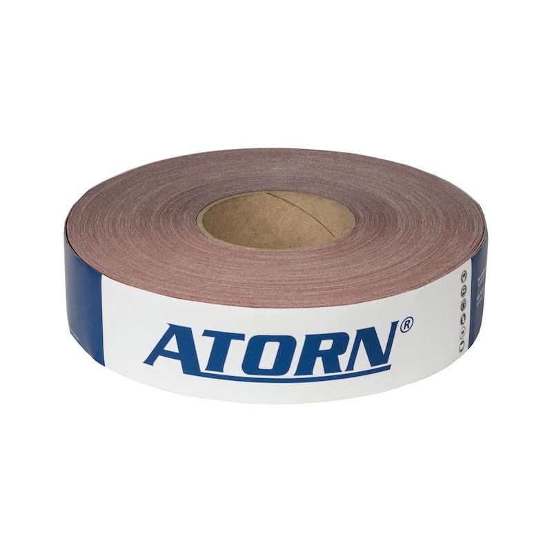 Rouleau de toile abrasive ATORN, corindon raffiné (AO) K40 50 mm x 50 m - Rouleau économique de toile abrasive ATORN