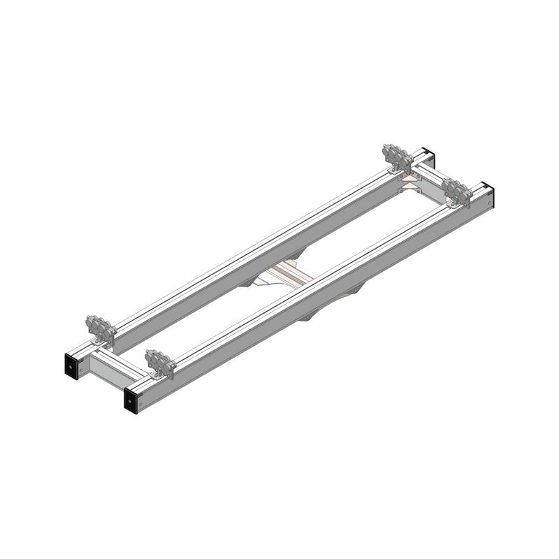 Aluminium double bridge