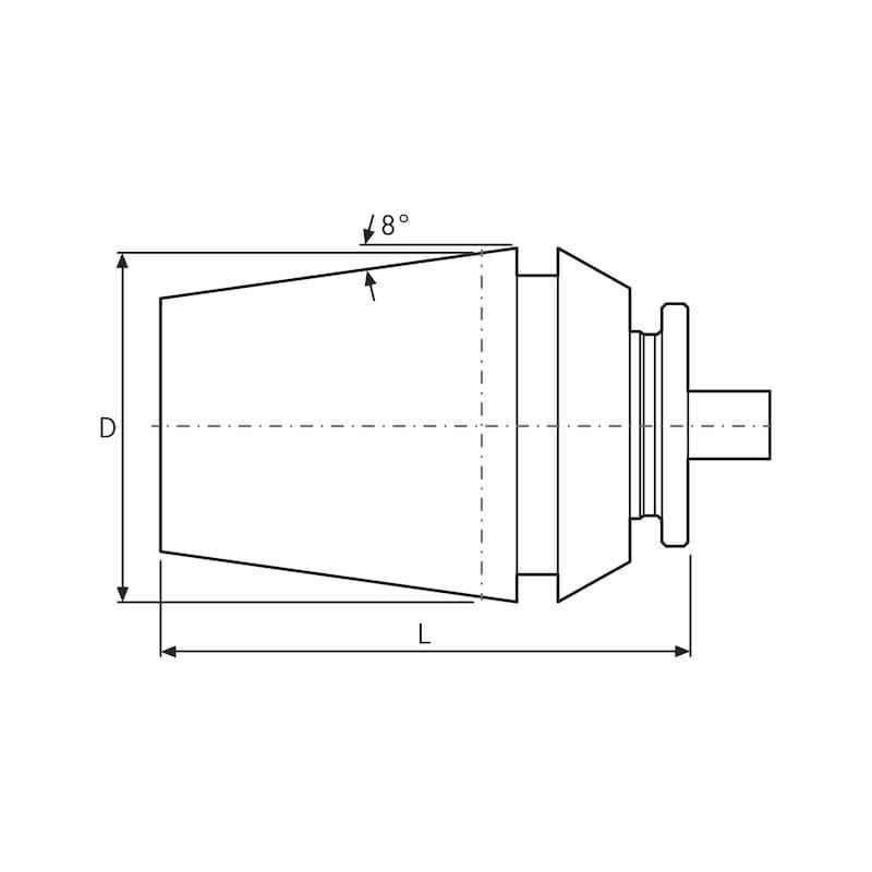 ORION Gewindebohrspannzangen ER40 10.50 X 8.00 mm mit Innenvierkant - Gewindebohrzangen ER ähnlich DIN 6499
