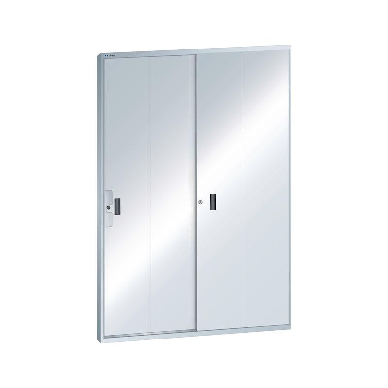 LISTA Sürgülü kapı L1006 raf taşıyıcı tasarımı (GxY) 2 x 850x2200 mm R7035 - Sürgülü kapı
