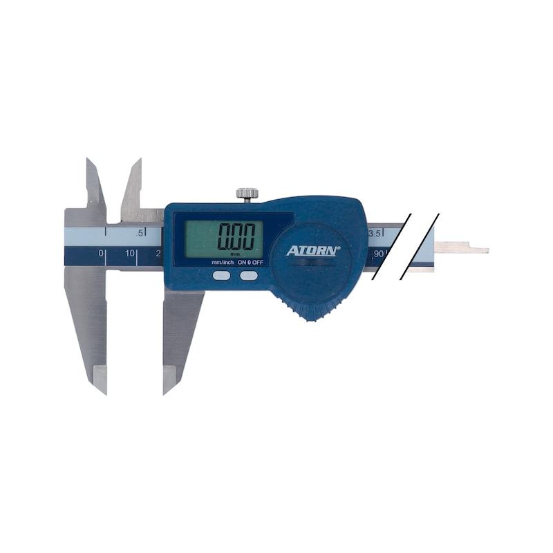 ATORN digitális tolómérő, 150mm, szögletes mélységmérő rúd - Elektronikus zsebtolómérők