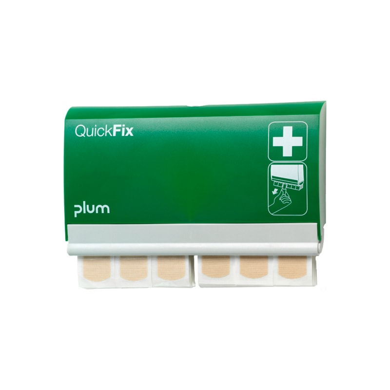 PLUM QuickFix Pflasterspender mit 2 x 45 elastischen Pflastern - QuickFix Pflasterspender
