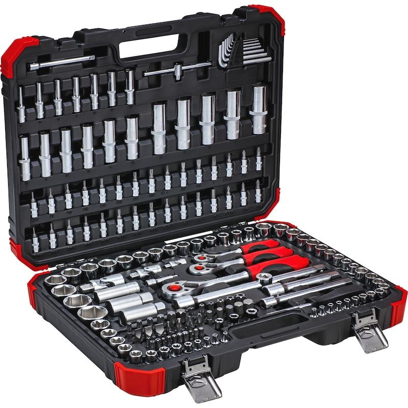 Jeu de clés à douilles GEDORE RED, 172 pièces, 1/4, 3/8, 1/2 pouce - Jeu de clés à douilles GEDORE RED, 172 pièces