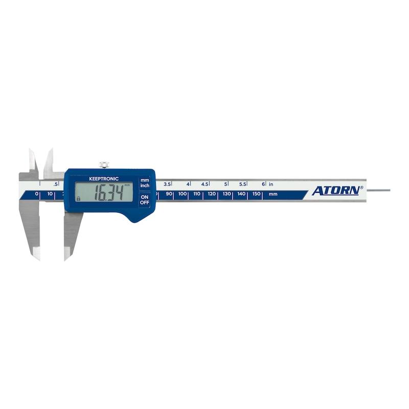 ATORN Messschieber IP40 elektronisch 150 mm Tiefenmaß rund - Elektronischer Taschen-Messschieber |AKTION