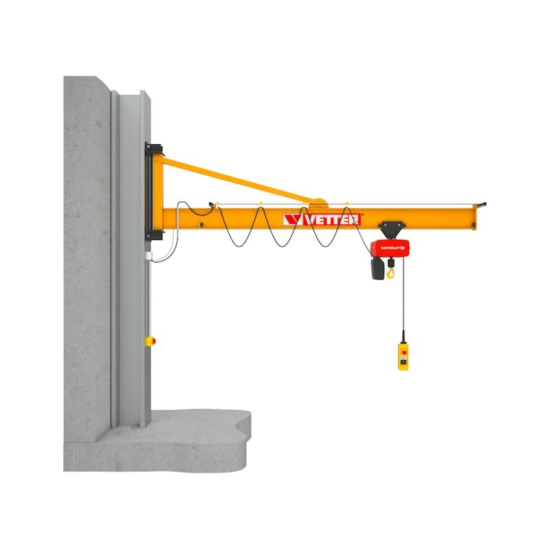 Column-mounted slewing jib crane PRAKTIKUS PW — complete set with chain hoist - 1