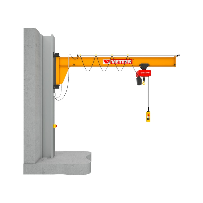 Column-mounted slewing jib crane ASSISTENT AS — complete set with chain hoist