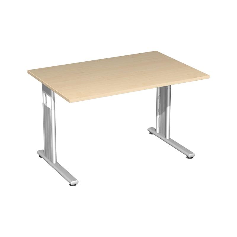 Schreibtisch C Fuß Flex 1200x800 Ahorn/Silber - Schreibtisch C Fuß Flex