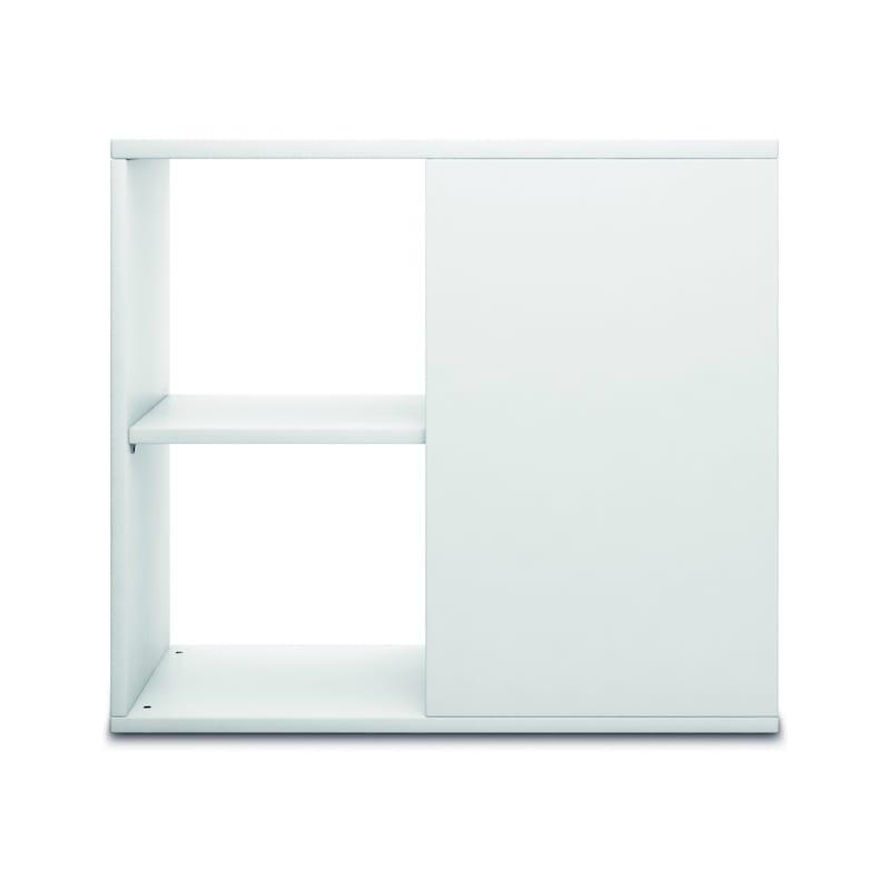 Anstell-Regal mit Stellfüßen 400x800x720, Weiß - Anstell-Regal