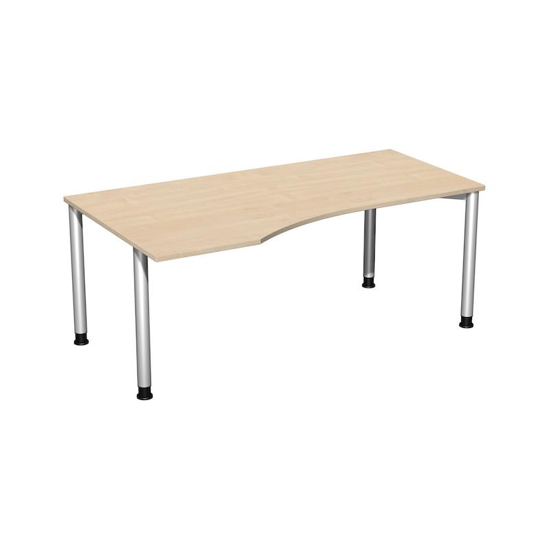 PC-Schreibtisch 4 Fuß Flex 1800x1000 HV links Ahorn/Silber - PC-Schreibtisch 4 Fuß Flex