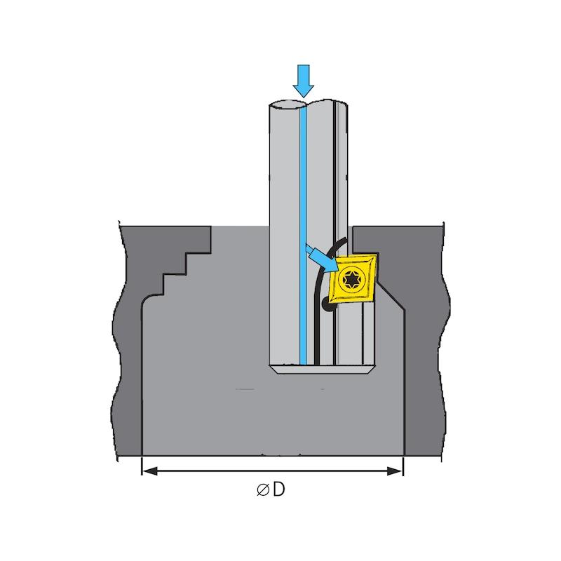 ATORN tersine çevrlb. uçlar, ters delik kateri, tekli bıçak, CC..06 24 mm, HE - Ters delik kateri için tersine çevrilebilir uçlar, tek ağızlı bıçak