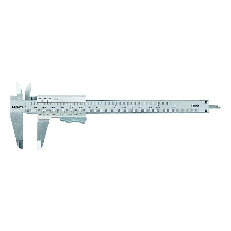 531-102 MITUTOYO, Messschieber Nonius mit Momentklemmung 0-200 mm 0,05 mm Metrisch - Analoge Taschenmessschieber