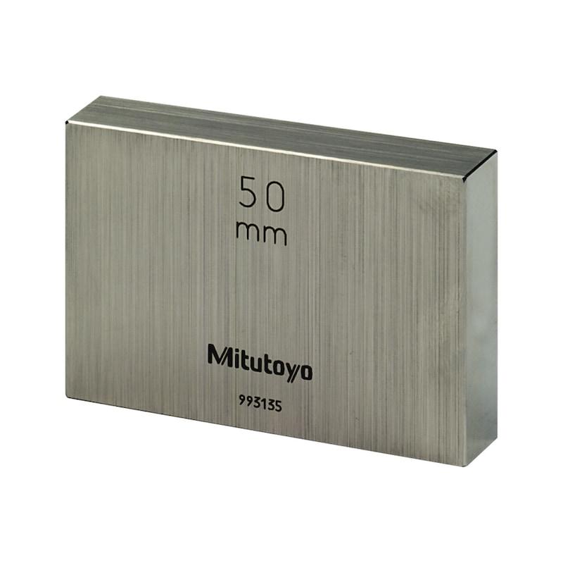 Cale étalon MITUTOYO ac certificat de test, 2,36 mm, classe tolérance 1, acier - Cale étalon en acier