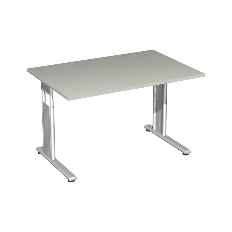 Schreibtisch C Fuß Flex 1200x800 Lichtgrau/Silber - Schreibtisch C Fuß Flex