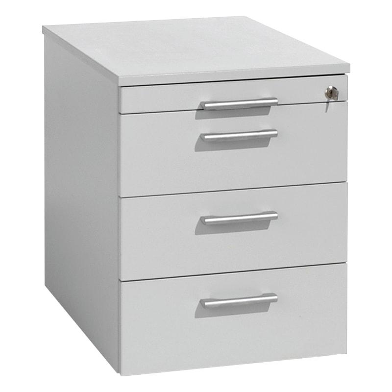 Rollcontainer 438x600x565, Lichtgrau/Lichtgrau - Rollcontainer