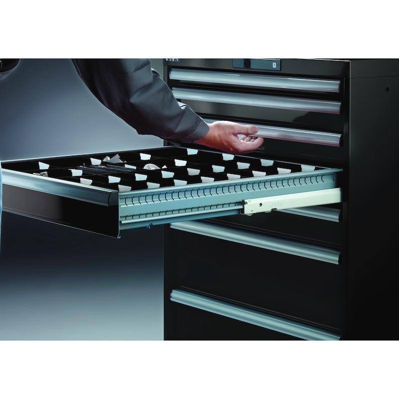 95.006.540.A LISTA, ESD Schubladenschrank 27x27E (BxTxH) 564x572x283xmm AUTO Lock NCS S 1080-Y40R - ESD Schubladenschrank vorkonfiguriert