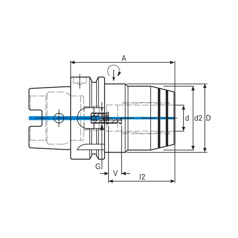 ATORN Hochleistungs.-Hydrodehnspannfutter HSK-A63 DIN 69893 Ø20,0 A80 Kofferset - Hochleistungs-HYDRO-Dehnspannfutter im Kofferset HSK 63  AKTION