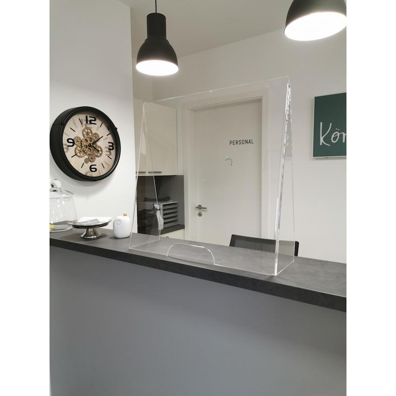 Schutzwand aus Acryl, Höhe 600 mm  - Schutzwand aus Acrylglas
