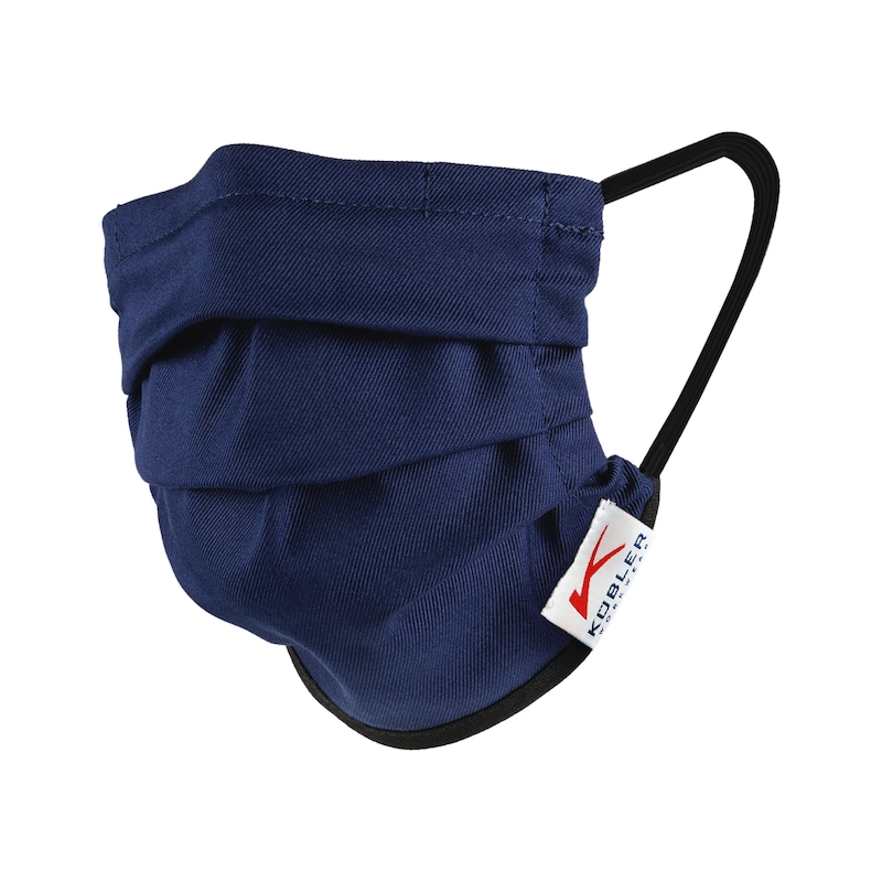 KÜBLER Mund-Nasen-Maske mit Gummiband, marine - Mund-Nasen-Maske mit Gummiband