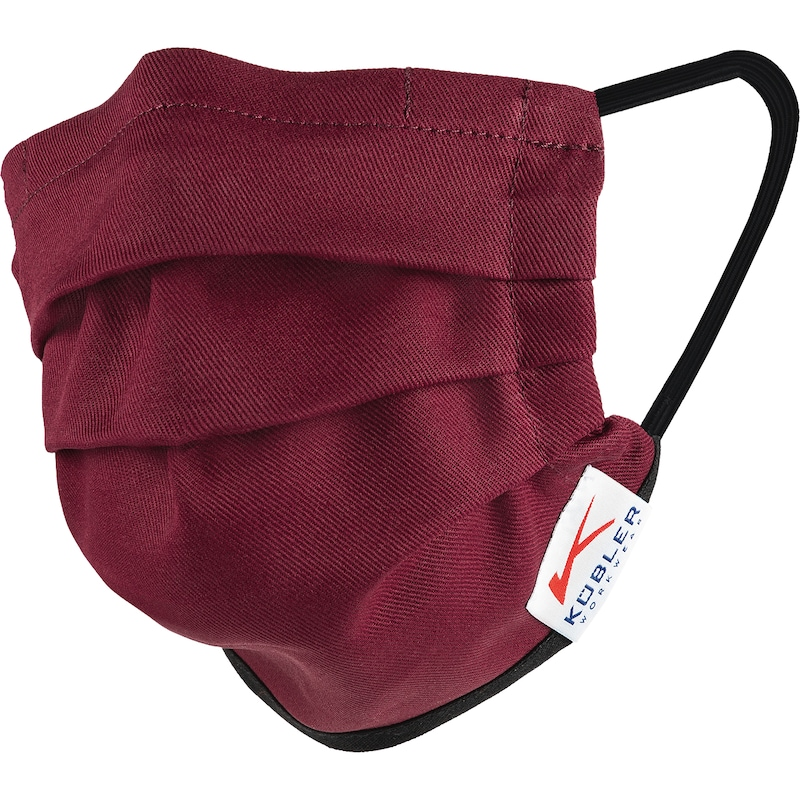 KÜBLER nose/mouth mask with elasticated strap, bordeaux -