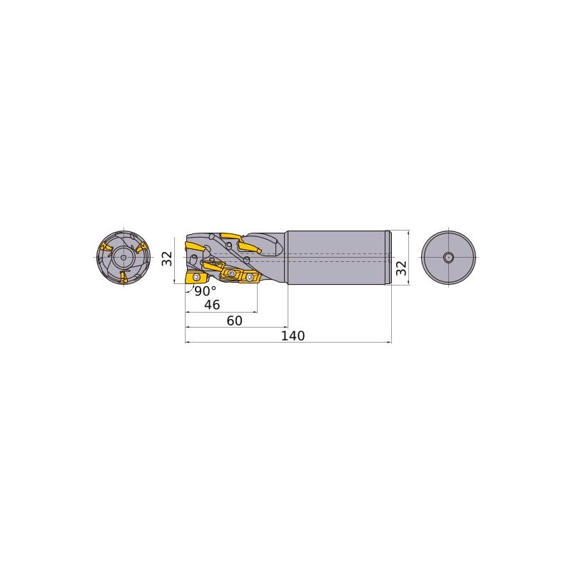 APX3KR3210SA32M046A MITSUBISHI, Schaftfräser - APX, Multifunktionales Fräsen