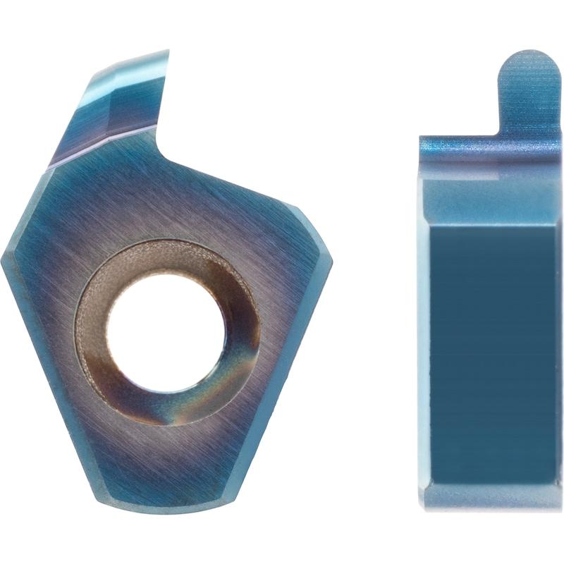 Mini-plaqu. à saigner S ATORN, rain. int. rayonD min =8,4mm A8 0,8mm x0,4mm - Plaquette à saigner miniature, avant