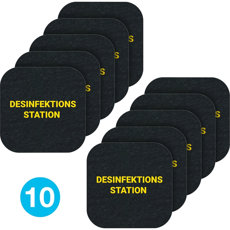 """PIG Grippy """"Disinfection station"""" safety floor mat for hygiene 23x23cm - PIG® Grippy® safety floor mats for promoting hygiene"""