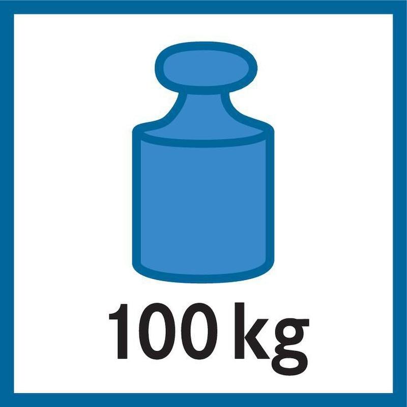 META d. bedugh. polc,CLIP 100,RAL7035, kompl.ráép.p., 2000x1000x400 mm, 2x5 p. - META CLIP polc, bedugható polc, teherbírás 100kg