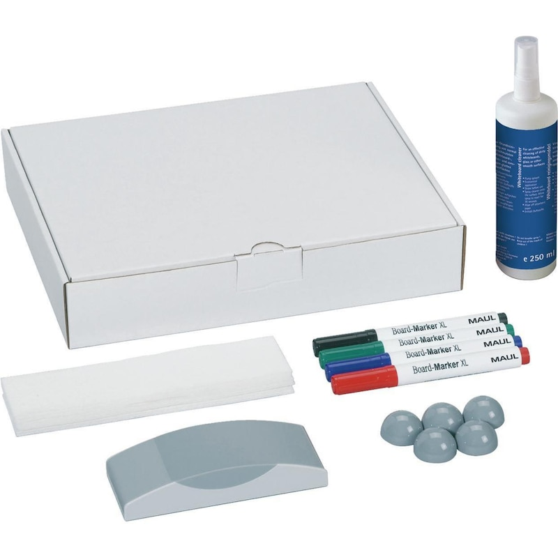 MAUL whiteboard accessories set dimensions 305x240x60 mm 16 pieces - Whiteboard accessories set