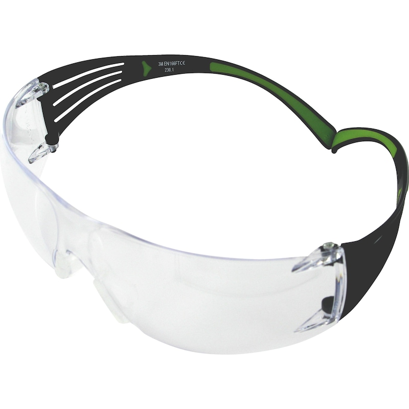 Safety goggles with frame