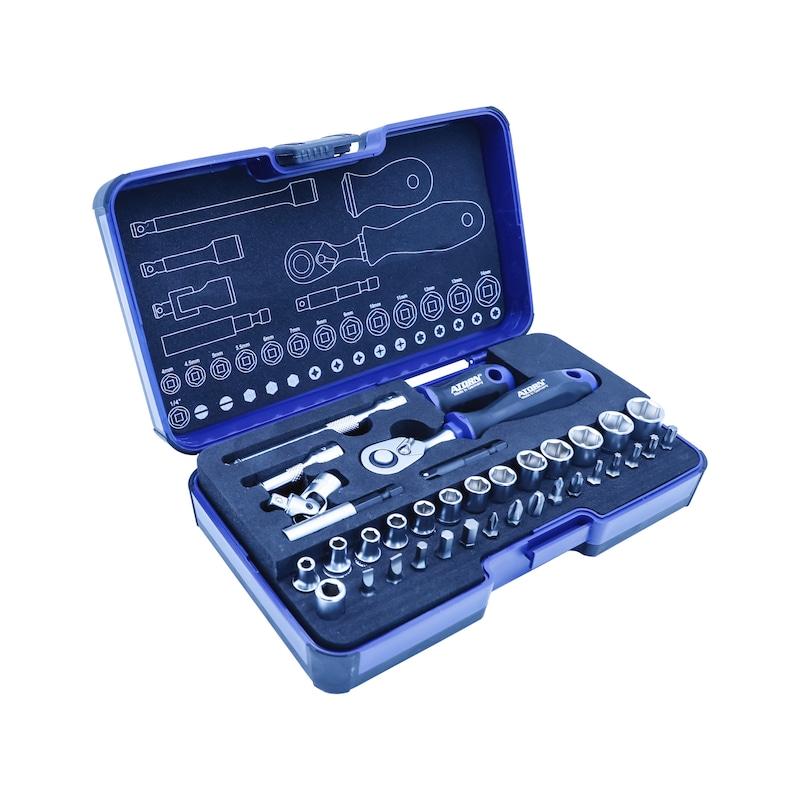 ATORN Schraubendreher- Steckschlüssel- und Sechskant-Winkelschraubendrehersatz - ATORN Schraubendreher-, Steckschlüssel- und Sechskant-Winkelschraubendrehersatz |OUTLET