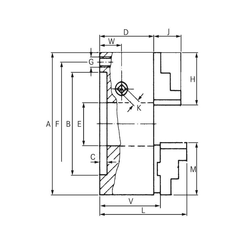 Mandrin de tours à 3 mors RÖHM ZS, 125 mm, DIN6350 - Mandrin de tours à trois mors ZS, mandrin à spirale plate DIN 6350-1