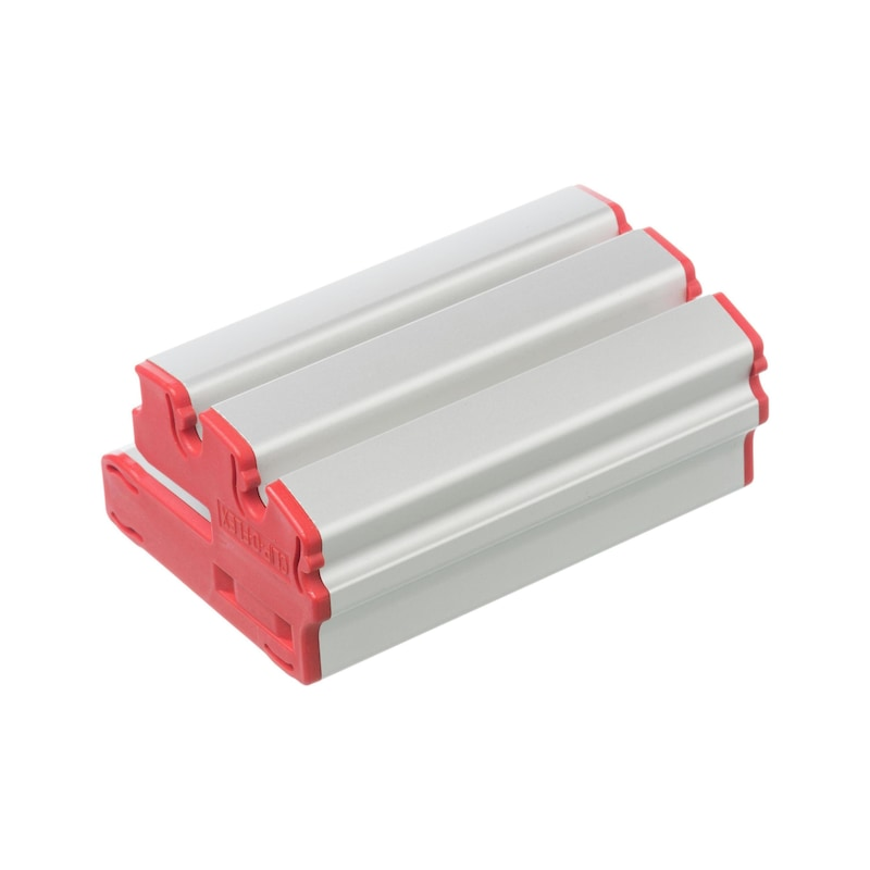 CLIP-O-FLEX insert profile for W-KLT storage boxes with angle 0°/12.5°/25° - W-KLT®-CLIP hook-on profile for W-KLT® storage boxes