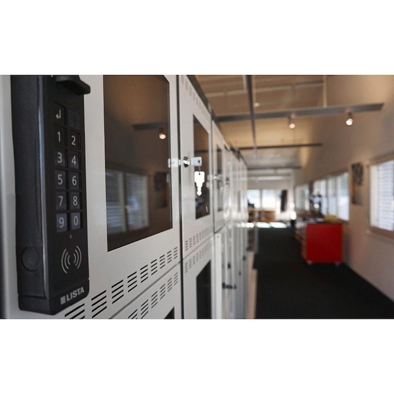98.644.000 LISTA, Garderobenschloss RFID komplett - Garderobenschloss und Software