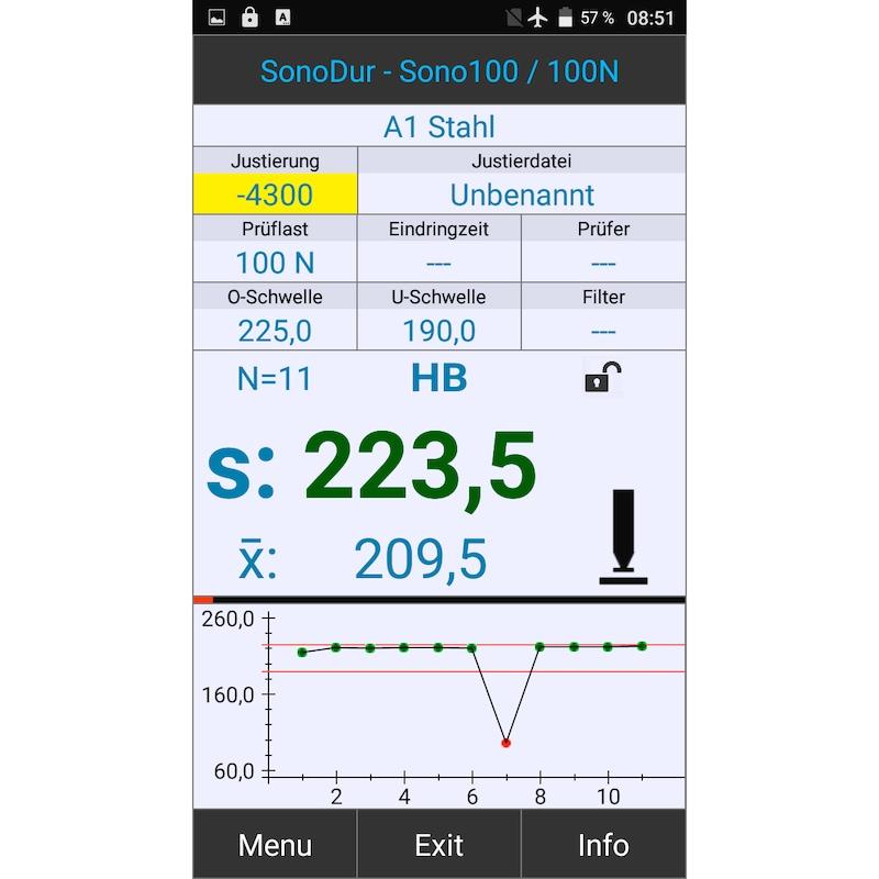 """UCI-Härteprüfgerät SonoDur3, 5"""" Touchscreen-Display, ohne Messsonde - Mobiles UCI-Härteprüfgerät SonoDur3"""