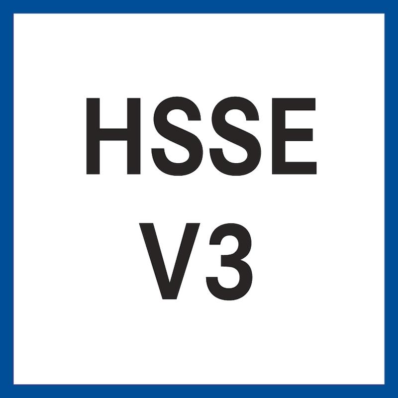 ATORN Gewindebohrer HSSE V3 vap. E 40 Grad M6 1,0 ISO2 D<2,5xD CNC;kon. UNI - Gewindebohrer HSSE V3 (kurzer Anschnitt E) M ISO 2 (6H) 40° (rechts) 371 E