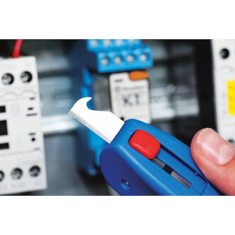 ORION Kabelmesser für Kabeldurchmesser 4 - 28 mm mit Schiebe-Hakenklinge - Kabelmesser mit einziehbarer Hakenklinge für 4 - 28 mm |OUTLET