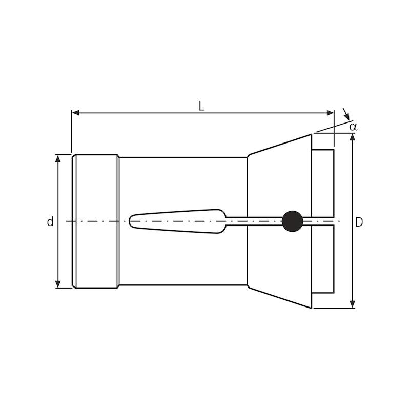 ORION collet chuck 185E (F66) square DIN 6343 size 28.0 mm, crosswise grooves - Sıkıştırma pens tutucu DIN 6343 185 E, kare