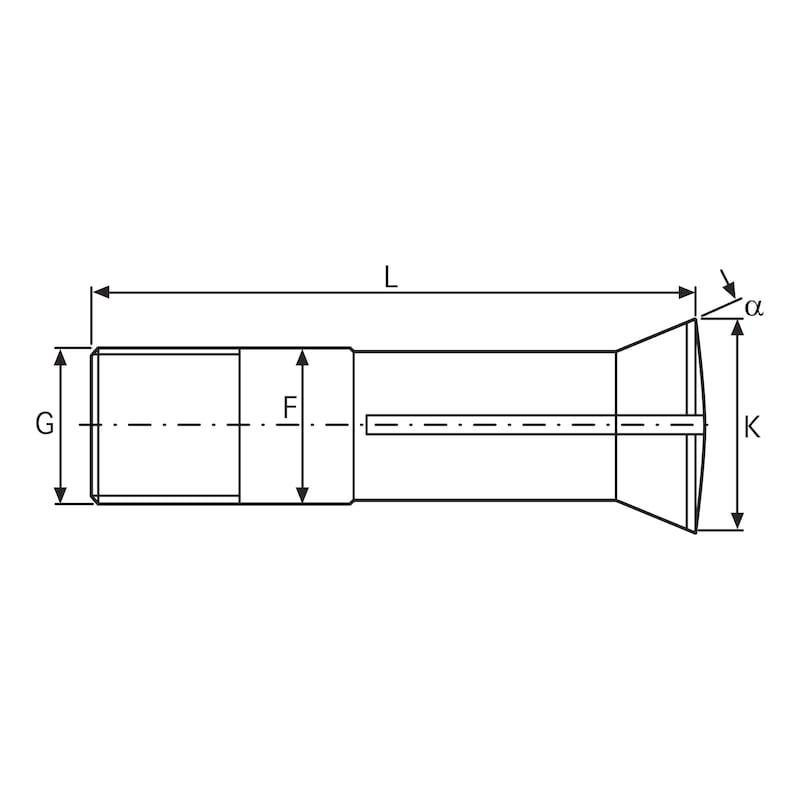 Mandrin à pinces d'insertion ORION 355E (L20) DIN6341 rond 2,5 mm lisse - mandrin à pinces d'insertion DIN6341 355 E