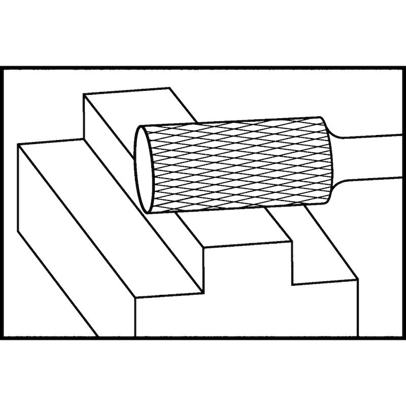 ATORN Hartmetall-Frässtift 6 mm ZYA 1020 Zahnung 6 ATORN Nr.: 11310053 - Hartmetall-Frässtift