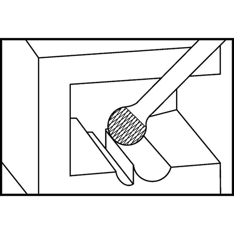 ATORN VHM turbómaró, 6 mm, KUD 1009 fogazás Alu ATORN r. sz.: 11310408 - Tömör keményfém turbómaró