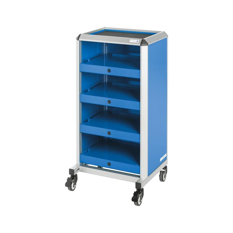HK Werkstattwagen 4 Fächer Stahl-Alu-Kombination 1050x540x495mm - Werkstattwagen für SORTIMO L-BOXXEN |OUTLET