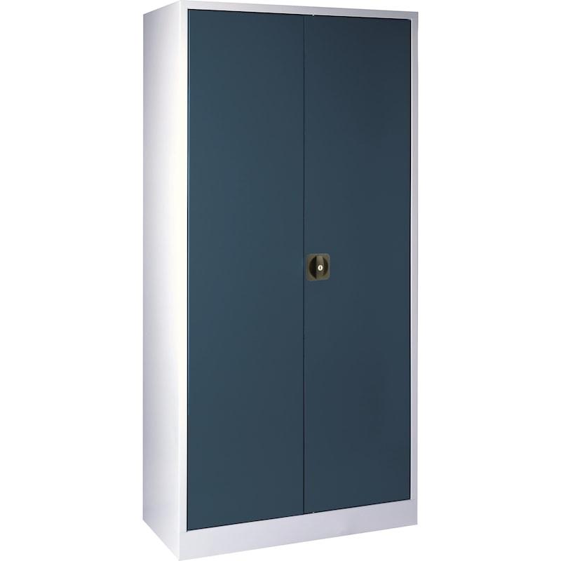 Armoire à portes battantes, HxlxP 1950x950x450 mm, RAL 7035/7016 - Armoire à portes à rabattement avec portes en tôle pleine, hauteur 1950mm